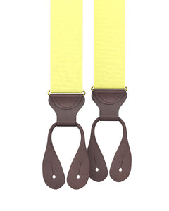 suspenders - Big & Tall Pale Yellow Grosgrain Suspenders - KK & Jay Supply Co.