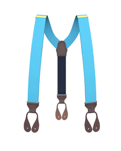 suspenders - Big & Tall Turquoise Grosgrain Suspenders - KK & Jay Supply Co.