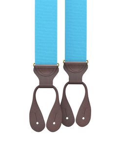Big & Tall Turquoise Grosgrain Suspenders - KK & Jay Supply Co.