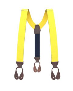 suspenders - Bright Yellow Grosgrain Suspenders - KK & Jay Supply Co.