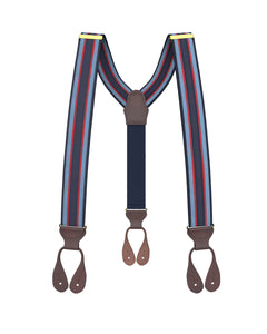 Big & Tall Southern Stripe Suspenders - KK & Jay Supply Co.