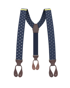 suspenders - Tibbett Spot Navy Suspenders - KK & Jay Supply Co.