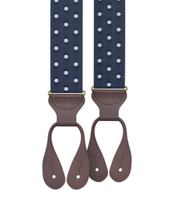 suspenders - Big & Tall Tibbett Spot Navy Suspenders - KK & Jay Supply Co.