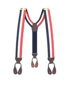 suspenders - Big & Tall Trinity Stripe Suspenders - KK & Jay Supply Co.