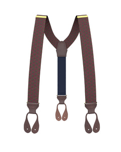 Big & Tall Washington Maroon Suspenders - KK & Jay Supply Co.