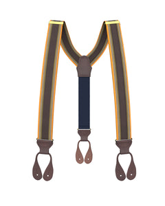 suspenders - Big & Tall Westchester Stripe Suspenders - KK & Jay Supply Co.