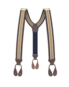 suspenders - Big & Tall Woodmere Stripe Suspenders - KK & Jay Supply Co.