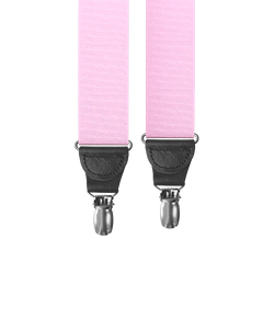 Light Pink Grosgrain Clip-on Suspenders - KK & Jay Supply Co.