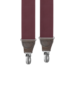 clip-on-suspenders - Big & Tall Maroon Silk Clip-on Suspenders - KK & Jay Supply Co.