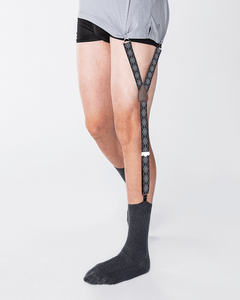 shirttail garters - Ashford Black/Grey - KK & Jay Supply Co.