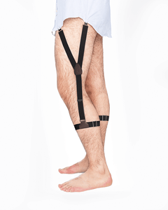 sockless shirttail garters - Sockless Solid Black - KK & Jay Supply Co.