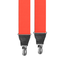 Big & Tall Red Grosgrain Clip-on Suspenders - KK & Jay Supply Co.