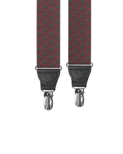 Washington Maroon Clip-on Suspenders - KK & Jay Supply Co.