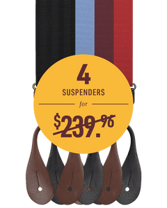 Custom Bundle - Suspenders 4-Pack - KK & Jay Supply Co.