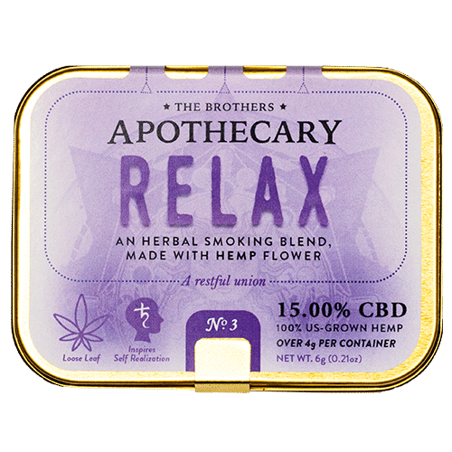 APOTHECARY BROTHERS SMOKE BLEND | RELAX - CHARLOTTE CBD