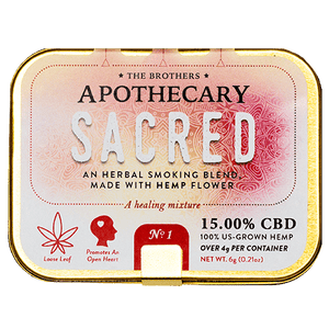 APOTHECARY BROTHERS SMOKING BLEND | SACRED - CHARLOTTE CBD