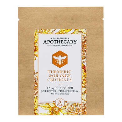 APOTHECARY BROTHERS | ORANGE  TURMERIC | HONEY PACK - CHARLOTTE CBD