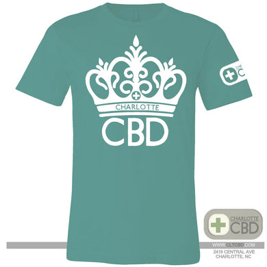 Charlotte CBD T-SHIRT | CROWN LOGO - Charlotte CBD Shop
