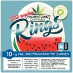 Load image into Gallery viewer, CROWNTOWN CANNABIS GUMMIES | WATERMELON RINGS | VEGAN - Charlotte CBD Shop