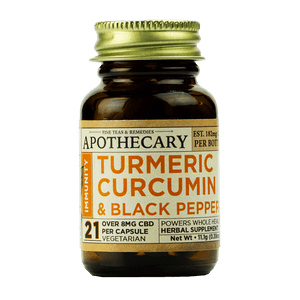 APOTHECARY BROTHERS CAPSULES | TURMERIC | IMMUNITY | 1OZ - CHARLOTTE CBD