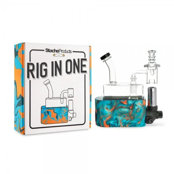 STACHE PRODUCTS RIG IN ONE | TEAL - CHARLOTTE CBD