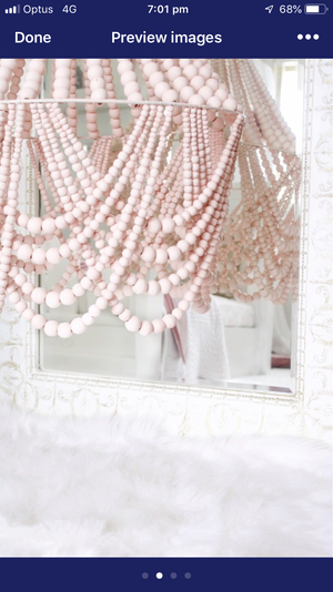 PRE SALE NOVEMBER Maxi Beaded Chandelier Light