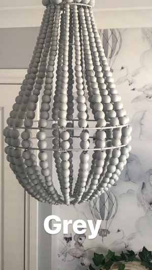 LATE JAN PRE SALE - Small Beaded OVAL Chandelier Light