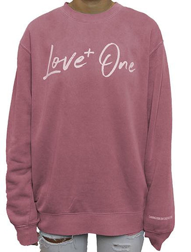 Love One Crimson Crew Sweatshirt