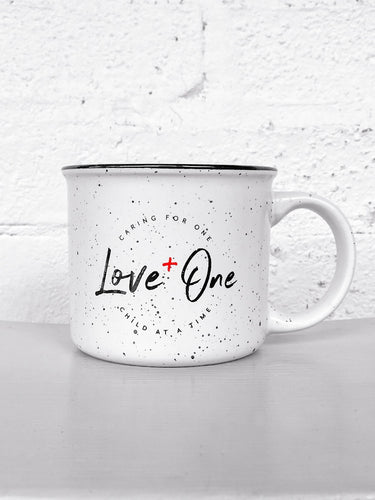 Love One Campfire 13 oz Ceramic Coffee Mug White