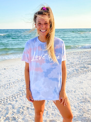 Love One Tie Dye Vintage Soft Tee