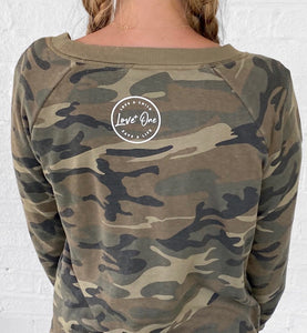 Love One Icon Camo Crew Sweatshirt