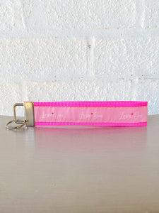 Love One Pink Key Chain