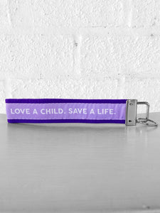 Love One Purple Key Chain