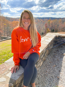 Love One Orange Crew Sweatshirt