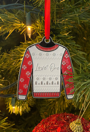 Love One Cast Sweater Ornament