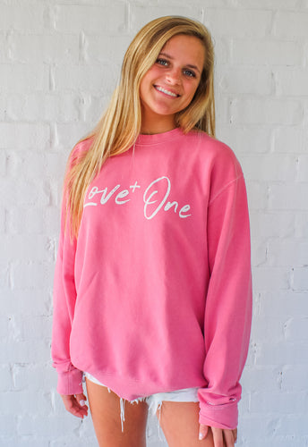 Love One Pink Crew Sweatshirt