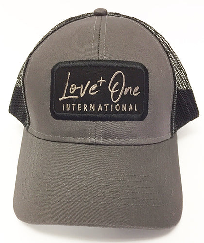 Love One Black Trucker Hat