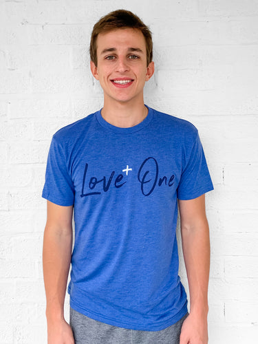 Love One Heathered Blue Tee Unisex
