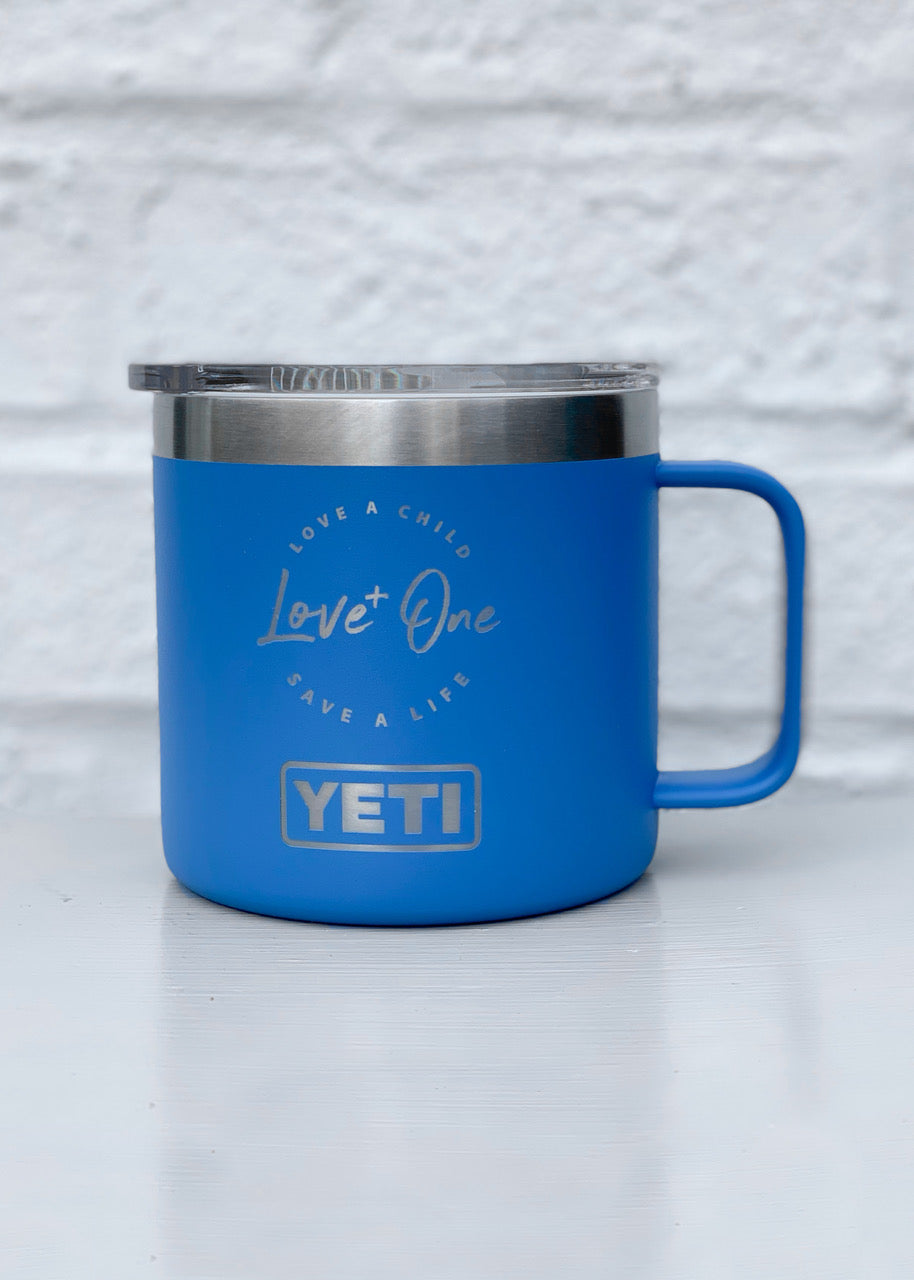 Yeti Rambler 14 oz Mug  Pacific Blue