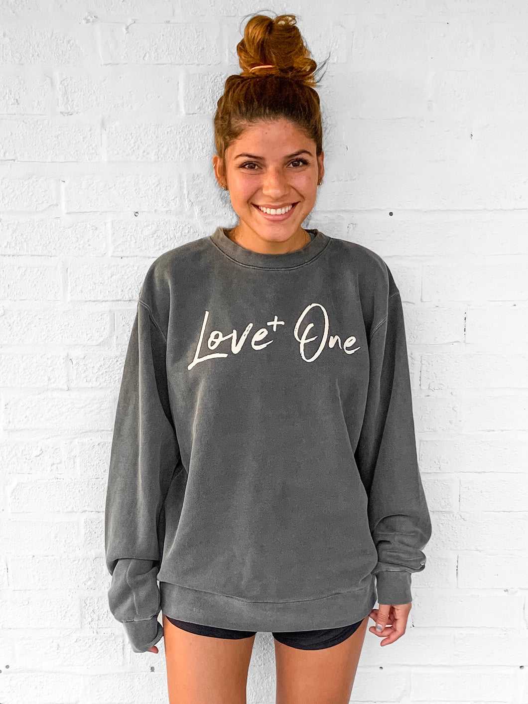 Love One Charcoal Crew Sweatshirt