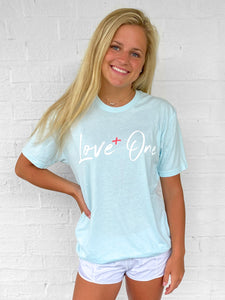 Love One Ice Blue Unisex Tee