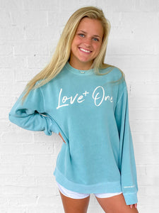 Love One Mint Crew Sweatshirt
