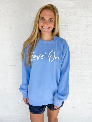 Love One Sky Blue Crew Sweatshirt