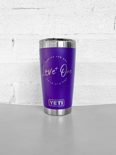 Yeti Rambler 20 oz Tumbler  Purple