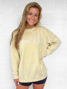 Love One Sunshine Yellow Crew Sweatshirt