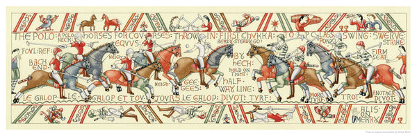 Fine art giclee print pastiche of the Bayeux tapestry