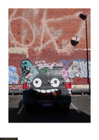 Fine art giclée photoprint of a van that has had  graffiti added in Los Angeles