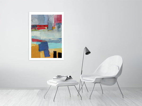 French Land Abstract by Elisabeth Le Vierge