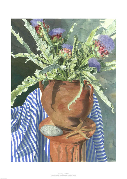 Flowering Artichokes by Rosalind Forster