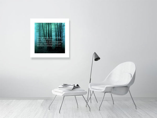 Woods and words print by Steve Parker